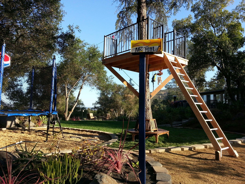 Air Mail Platform! #zipline   Backyard, Backyard gazebo ...