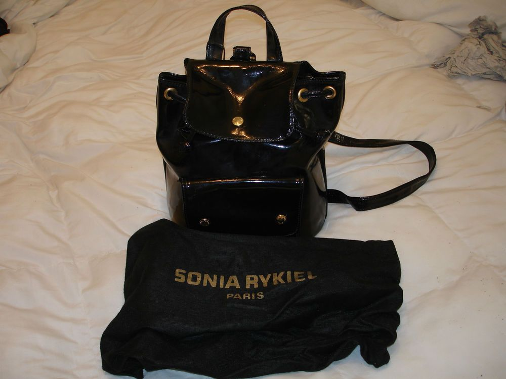SONIA RYKIEL PATENT LEATHER BACKPACK