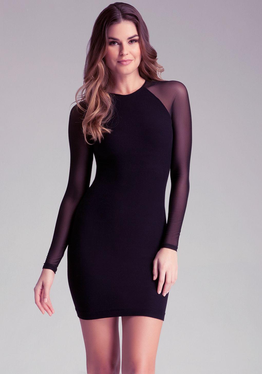 Black dress bebe - Bebe Grace Dress In Black Lyst