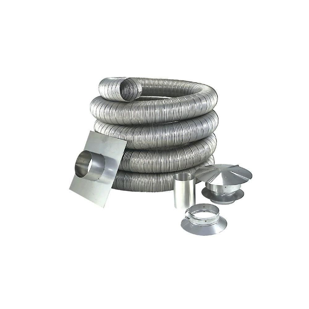 Z Flex 5 In X 25 Ft Stainless Steel Oil Liner Kit
