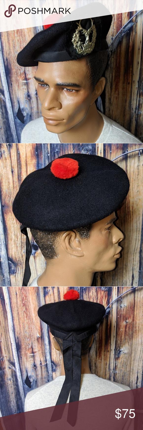 Gordon Highlanders black tam-o-shanter hat WWII World War II