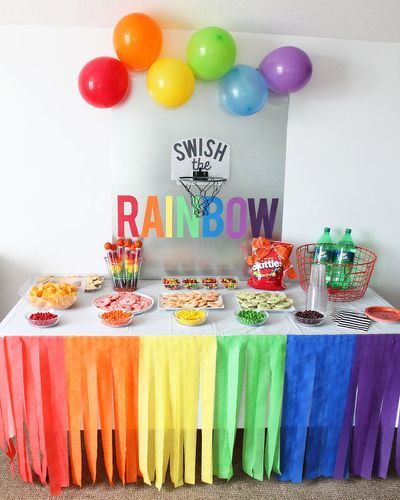 Rainbow Party Ideas Rainbow Party Birthdays Pinterest Rainbow