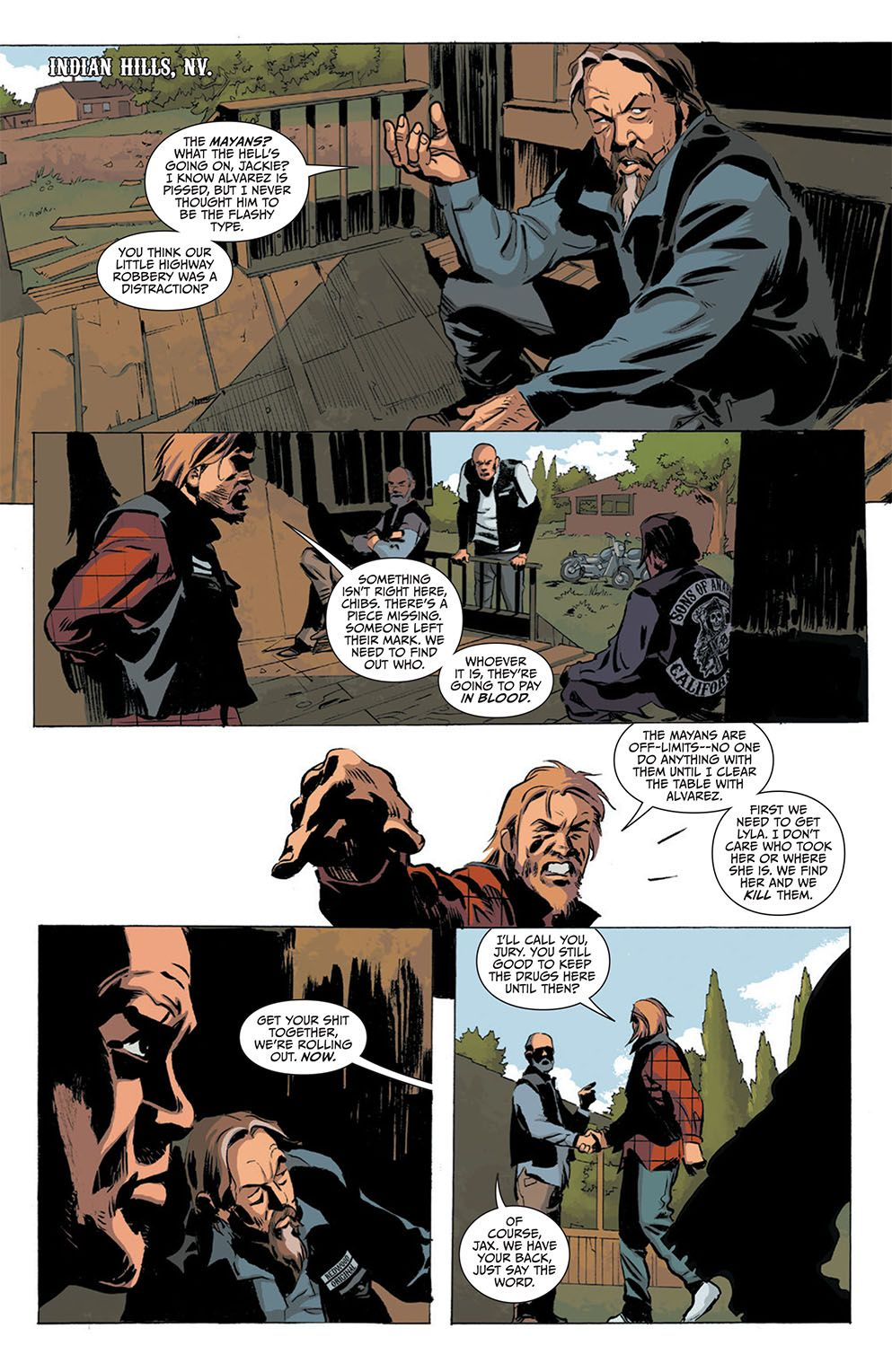 Preview Sons Of Anarchy 21 All Comic Com Sons Of Anarchy Anarchy Comic Books