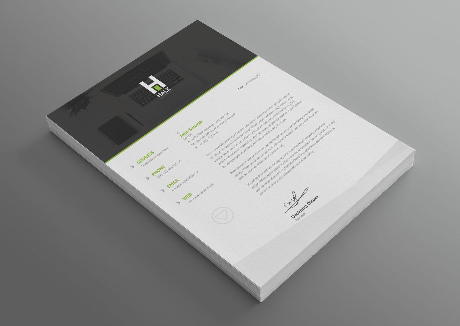 Asclepius Professional Corporate Letterhead Template 001030