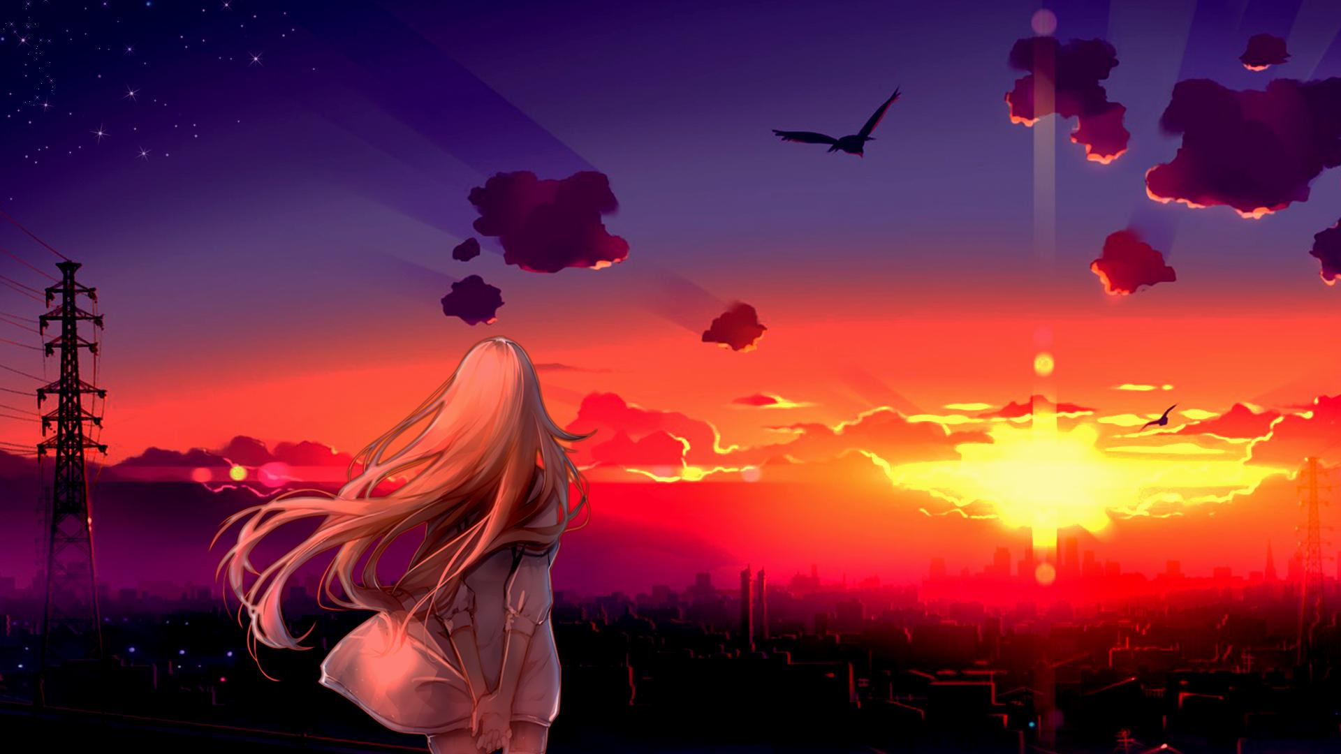 Anime Wallpaper Epic Sunset Scenery Wallpaper Anime Scenery Anime Scenery Wallpaper