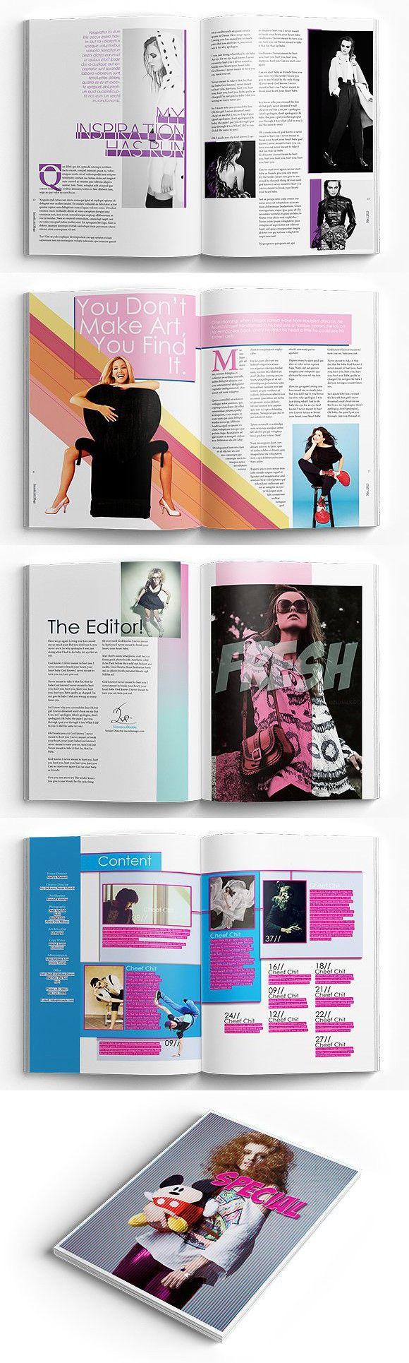 InDesign LifeStyle Magazine | Magazine Templates | Pinterest ...