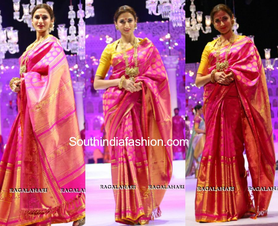 Shilpa Reddy In Gaurang South India Fashion Blouse Designs High Neck Blouse Designs Silk Latest Saree Blouses