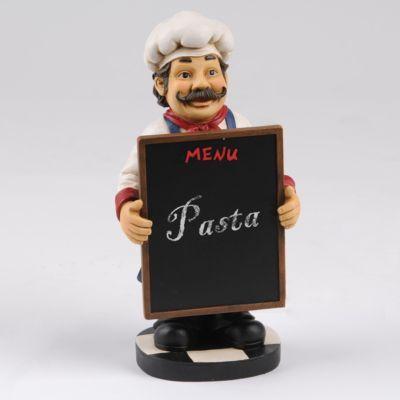 Chalkboard Menu Chef Statue