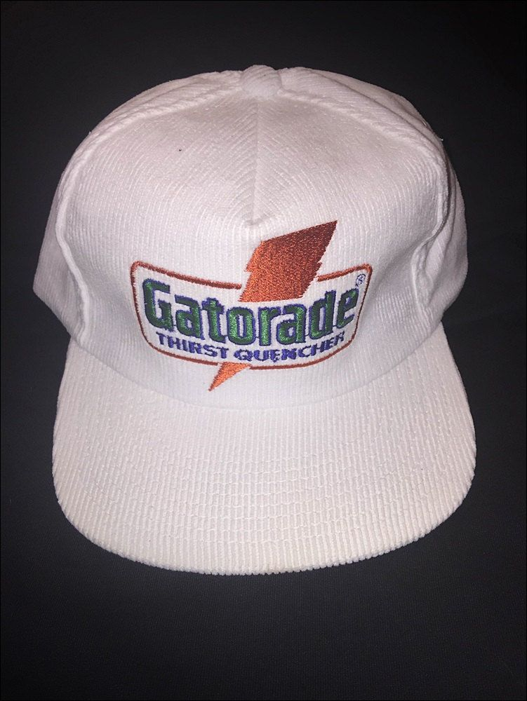 849ba08d239 Vintage DEADSTOCK 80 s Gatorade Jordan Sports Specialties Corduroy Snapback  Hat by JourneymanVintage on Etsy