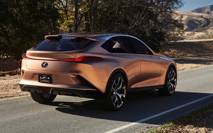 Download Wallpapers Lexus Lf 1 Limitless Concept 2018 Futuristic Car 4k Luxury Cars Rear View Lexus Besthqwallpapers Com Veiculos Futuristas Carros Do Futuro Carros De Luxo