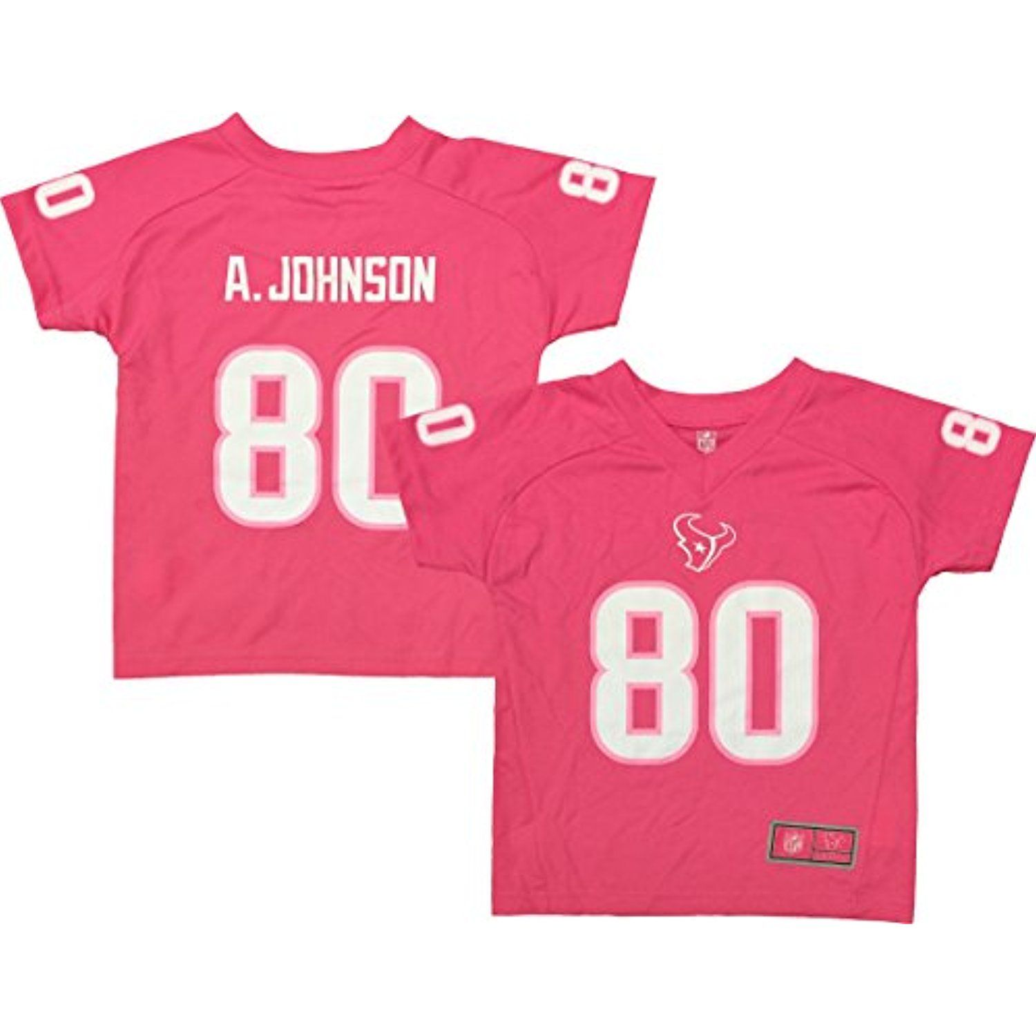 Andre Johnson Houston Texans Pink Performance Fashion Kids Jersey    To  view further for this d400258f7