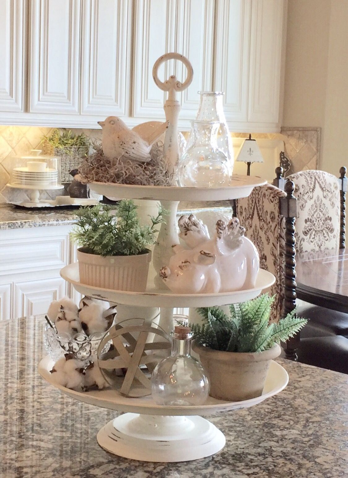 Trays For Decor On Kitchen Counter Ideas: Tiered Trays In 2019