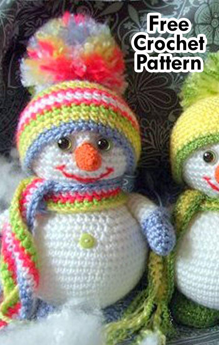 25 Free Amigurumi Snowman Crochet Patterns Holiday Crochet Crochet Patterns Crochet Projects