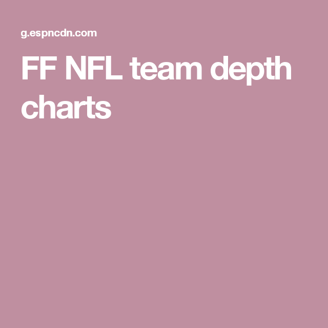 Ff Nfl Team Depth Charts Chart Fantasy Football
