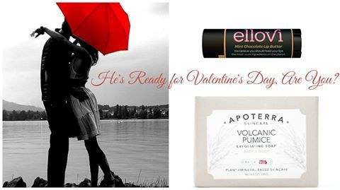 Gift your man something special this Valentine's Day!  Let his #lips be #smoother with #Ellovi #Mint #Chocolate Lip Butter & keep his #hands # soft with #Apoterra_Volcanic #Pumice #soap.
