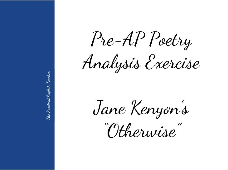 This is a structured poem analysis activity that culminates in