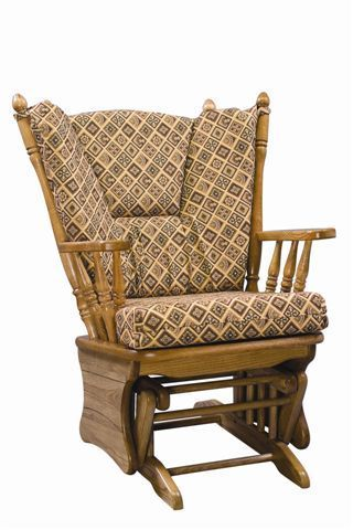 Amish Four Post Gliding Rocker Glider Rocking Chair Glider Cushions Glider Rocker