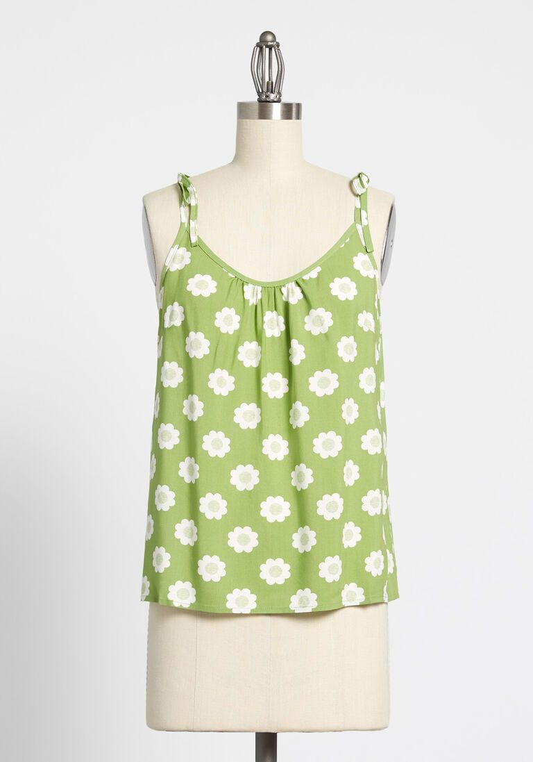 Summer Ease Tie Shoulder Tank Top In Xl Plus Size Tank Tops Tank Tops Top Summer Outfits [ 1097 x 768 Pixel ]