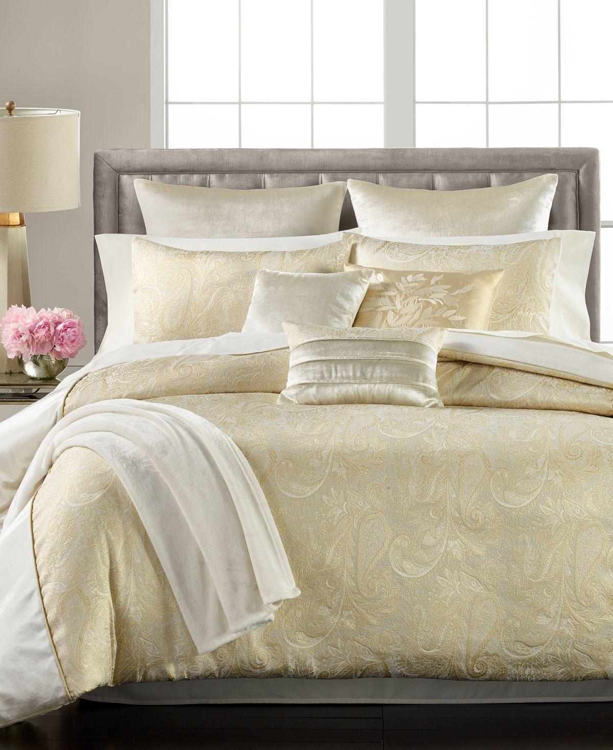 Closeout Martha Stewart Collection Velvet Paisley Jacquard 14 Pc California King Comforter Set Creat In 2021 Comforter Sets Luxury Comforter Sets Gold Comforter Set