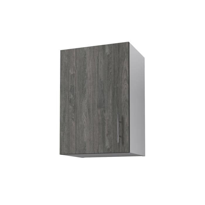 OBI Meuble haut de cuisine L 40 cm Décor teck marine et