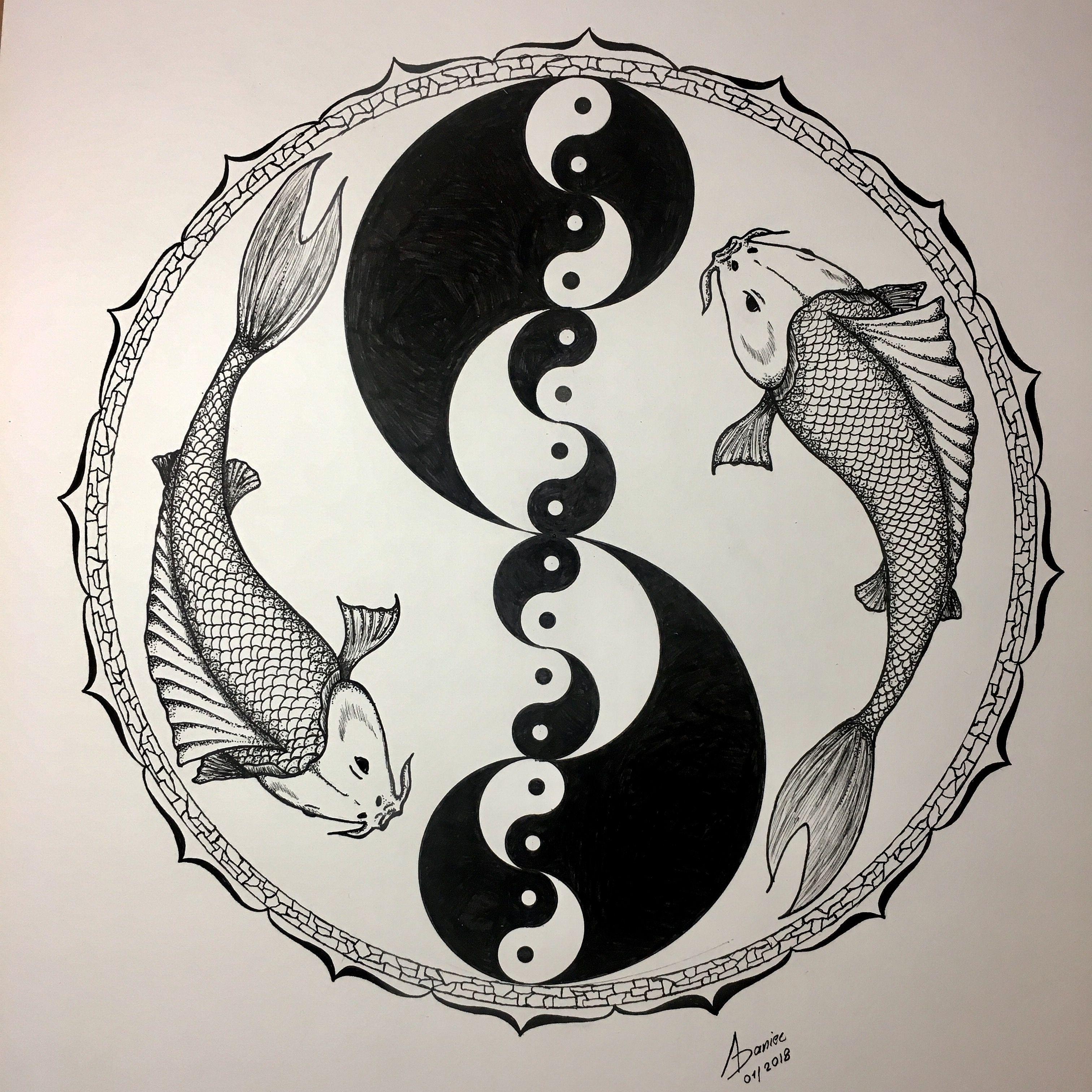 Yin Yang Koi Fish Avatar State Yip Yip Pinterest Yin Yang