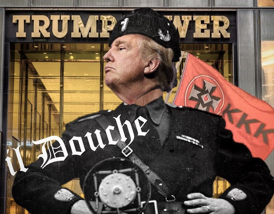 il Douche - Trump doing his best Mussolini. Hard to spot the difference.