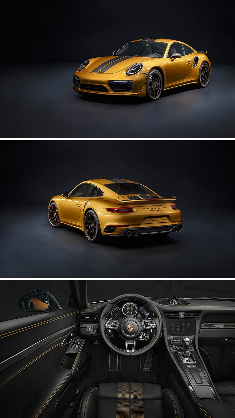 Each Porsche 911 Turbo S Exclusive Series arrives with the Aerokit, new rear fascia, black calipers, new exhaust, and Porsche Exclusive Manufaktur fender plates