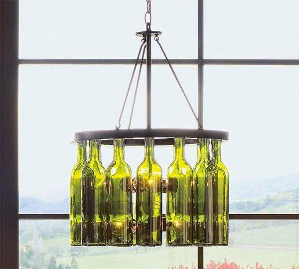 de DIYlámpara botellas cristal · techo de DIYbottle con MVUSpqz