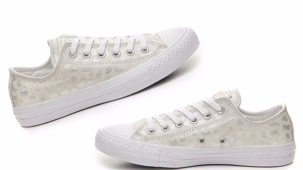 WOMEN'S CONVERSE Chuck Taylor All Star Animal Glam Ox White/Silver 555812C