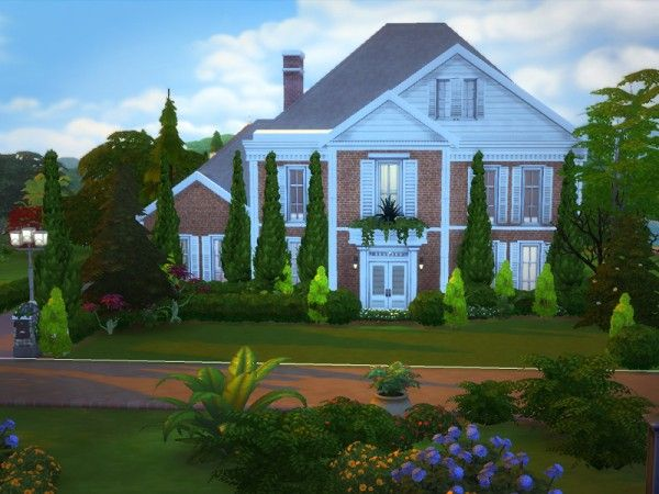 The Sims Resource Brickfort Mansion No Cc By Melcastro91