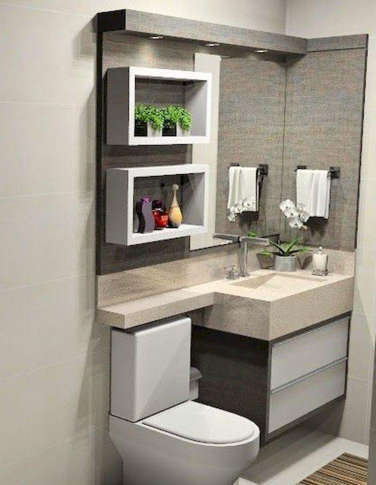 100+ Wonderful Small Bathroom Remodel Ideas On A Budget #bathrooms
