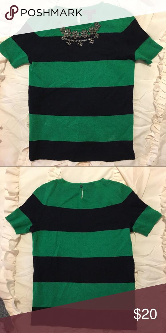 JCrew Beautiful Navy and Green Sweater size xxs | Summer sweaters ...