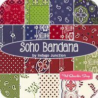 Soho Bandana Fat Quarter Bundle Indygo Junction for Red Rooster Fabrics - Fat Quarter Shop