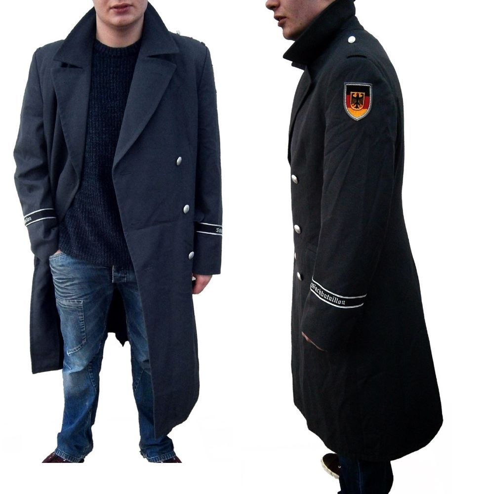 Details about 1990s German Army Wool Trenchcoat Greatcoat military