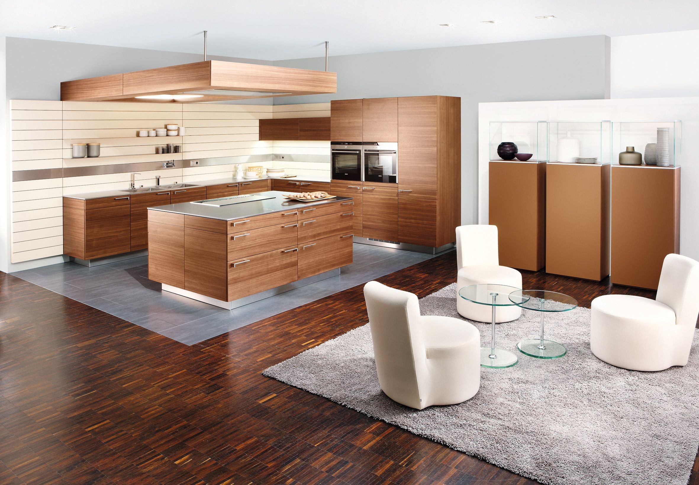 Al al alno kitchen cabinets chicago -  Artesio Kitchen By Poggenpohl In Walnut Finish The Integrated Approach To Kitchen And