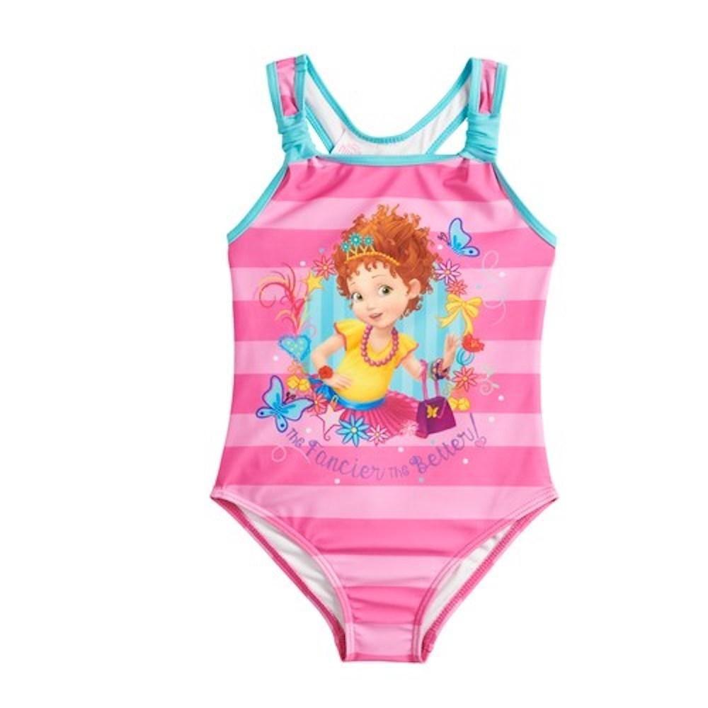 Fancy Nancy Girls Swimsuit One Piece Size 5//6 Little Kids Pink