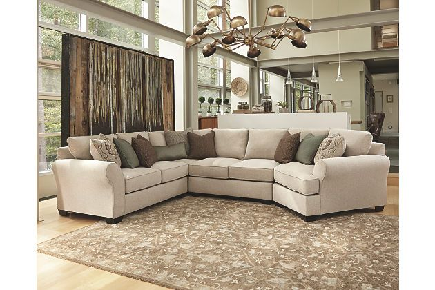 and comfortable wilcot 4piece sectional is a perfect fit for large gathering