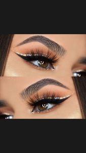 Photo of Glitter Eye Makeup # glittereyemakeup #glittereyemakeup kaan # fashiondesign #n …