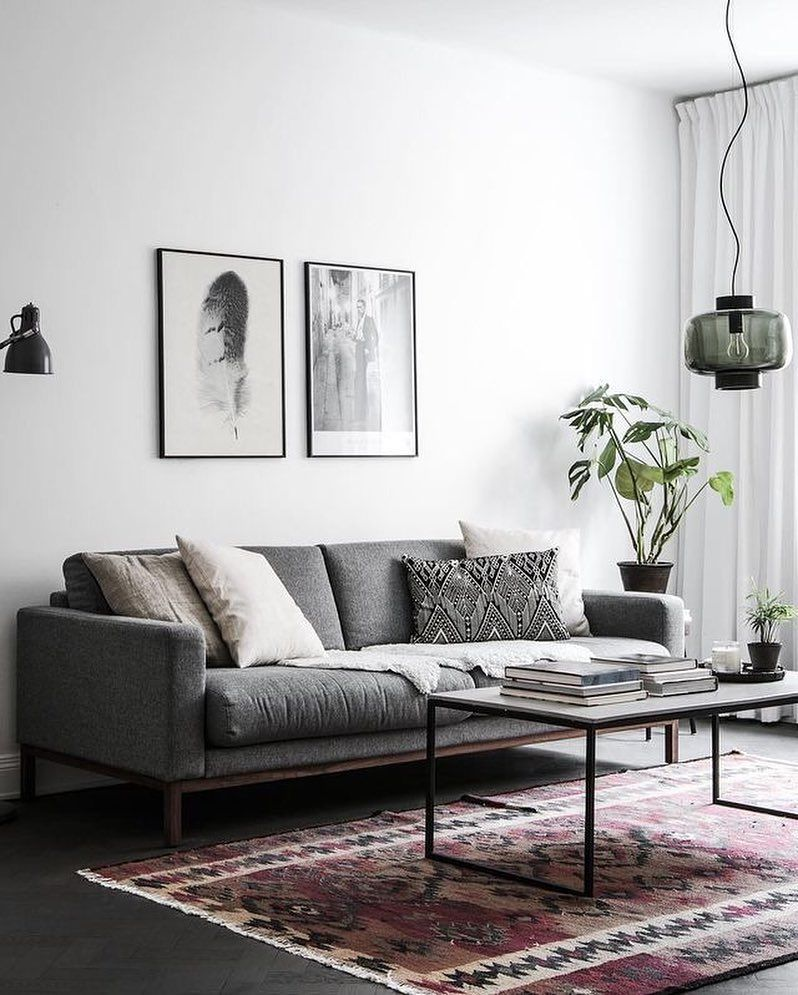 A beautiful light-filled living room via @fastighetsbyran_sodermalm ...