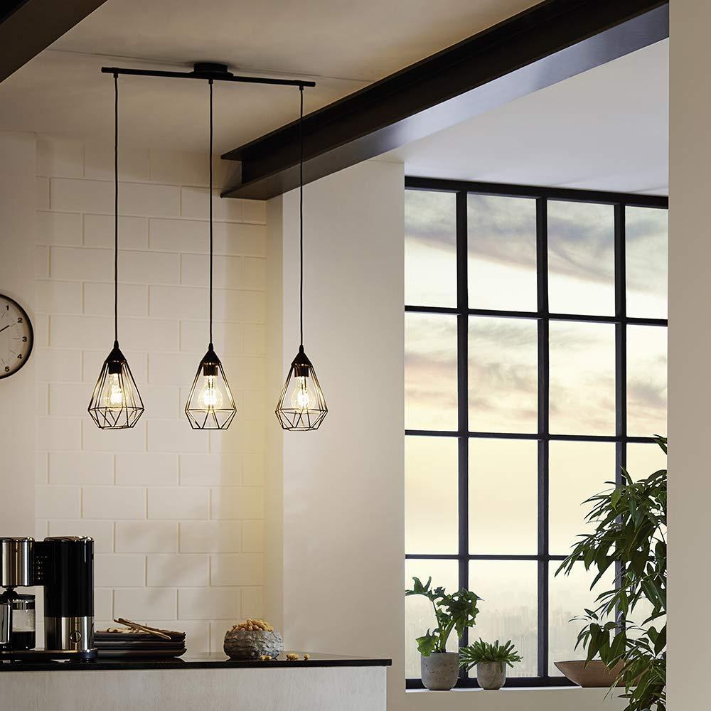 Pendant Light E27 L 790 Tarbes Matt Black Amazon De Beleuchtung Pendelleuchte Vintage Lampe Wohnungsbeleuchtung