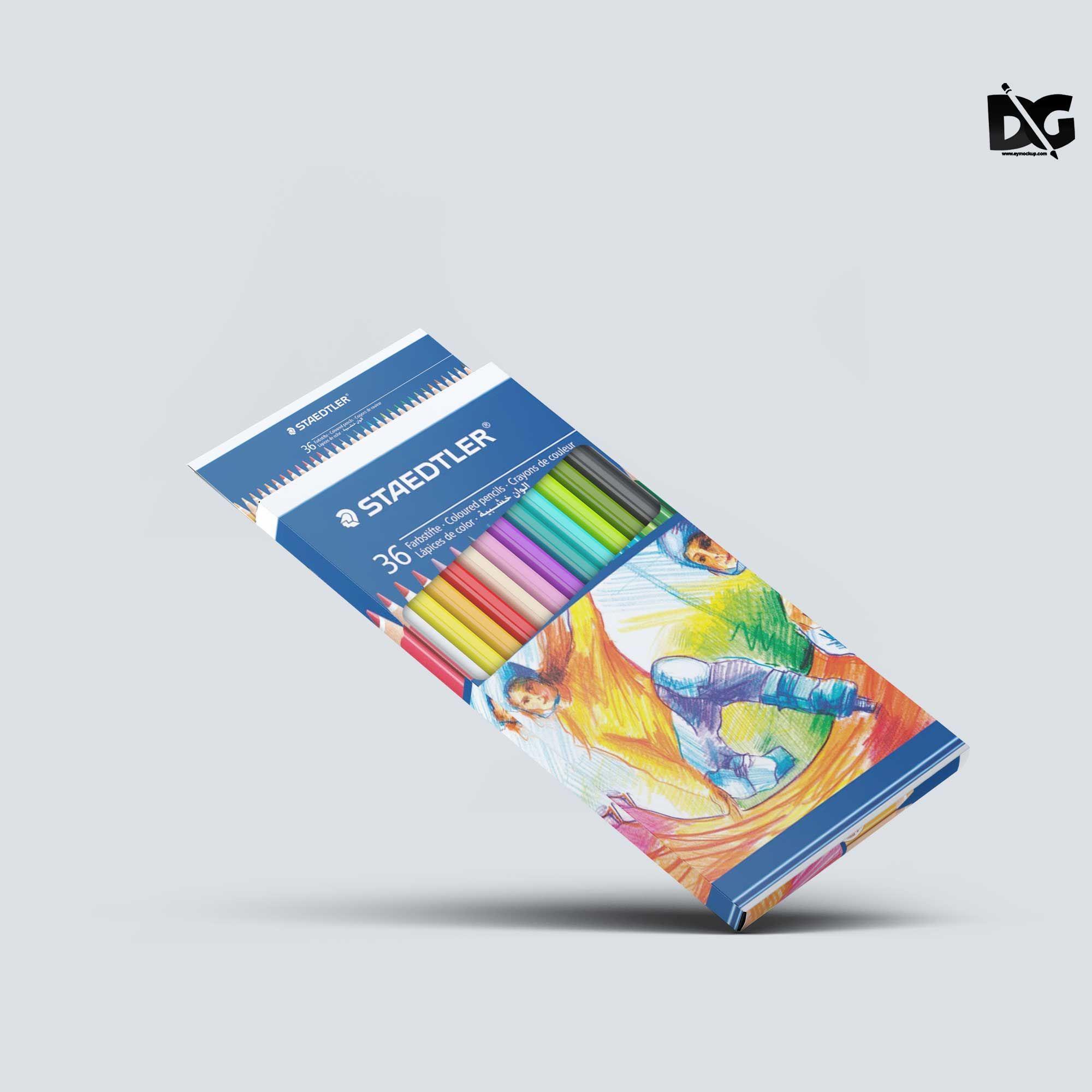 Download Free Pencil Box Packaging Mockup Packaging Mockup Logo Design Mockup Free Logo Mockup