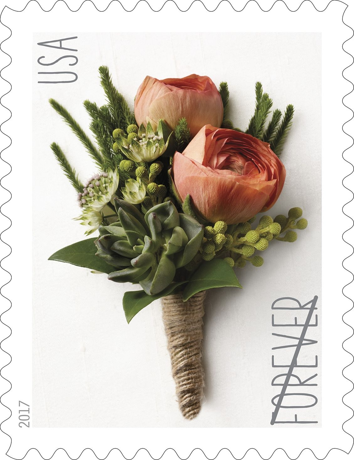 Celebration Boutonniere Forever Stamp  Wedding stamp, Forever