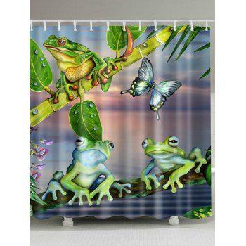 Frog Print Bathroom Decoration Shower Curtain Pink Shower