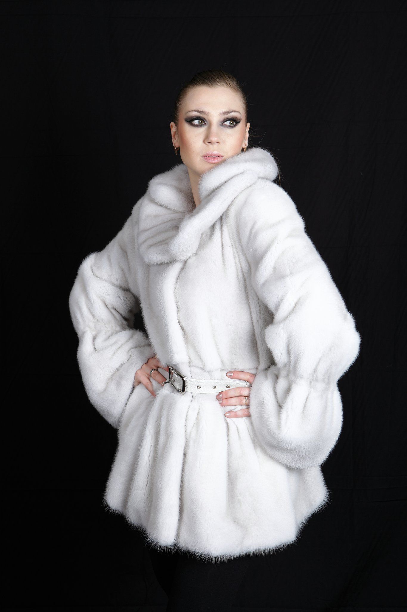white mink coat by Mailon Furs, Kastoria, Greece | White Fur ...
