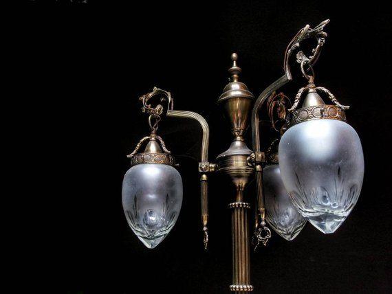 Antica Lampada da terra in ottone   Lampade da terra ...