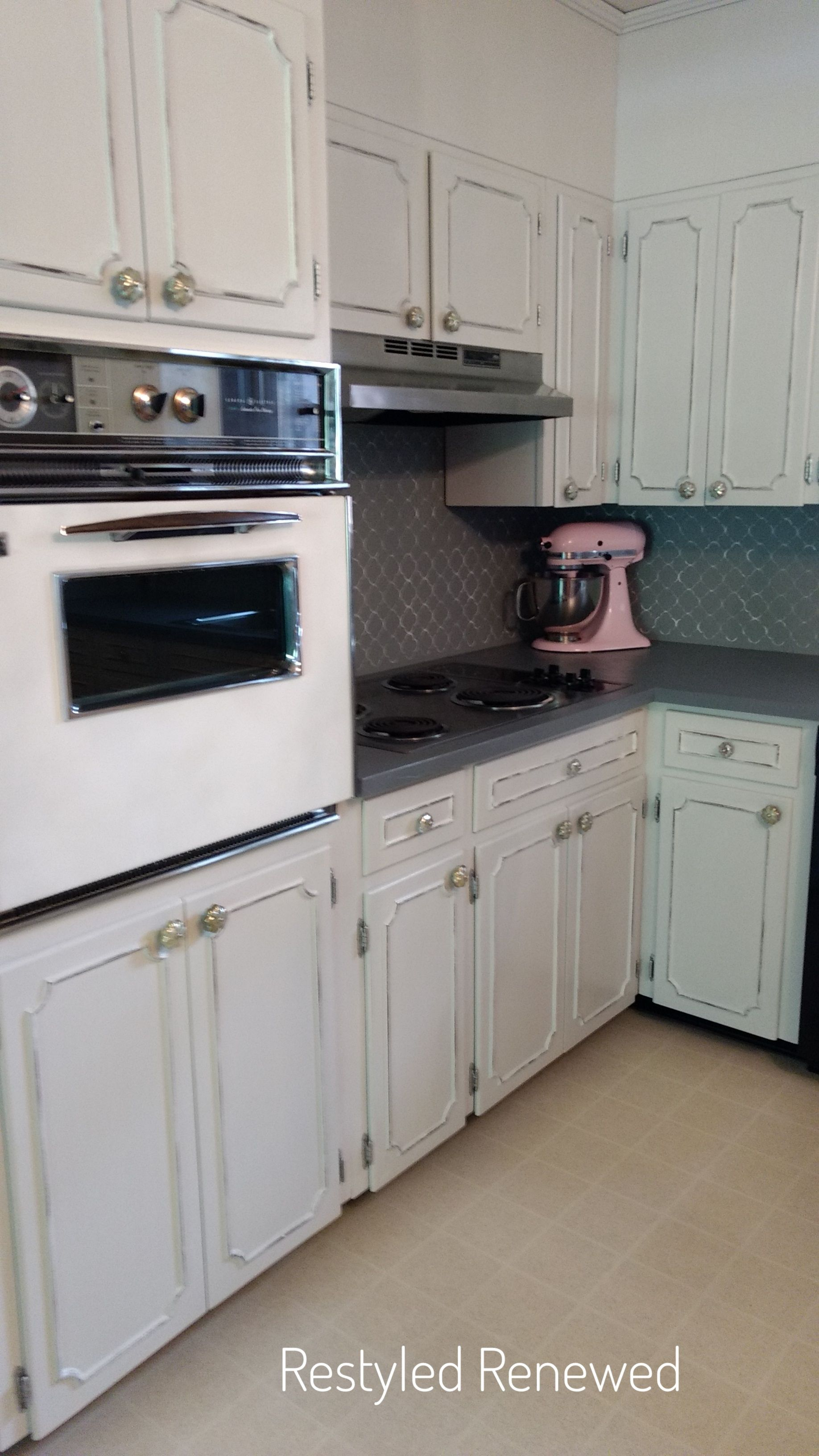 Our Kitchen Makeover Kitchen Diy Makeover 1970s Kitchen Remodel Kitchen Cupboards Paint Painting 1970s kitchen cabinets