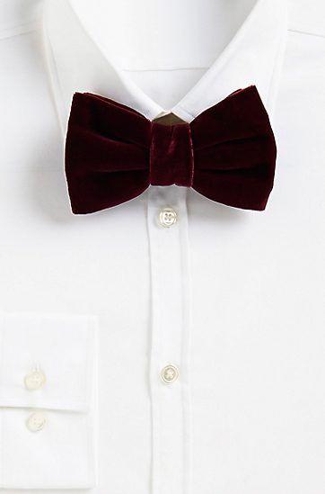 Velvet bow tie BOSS z2mCc