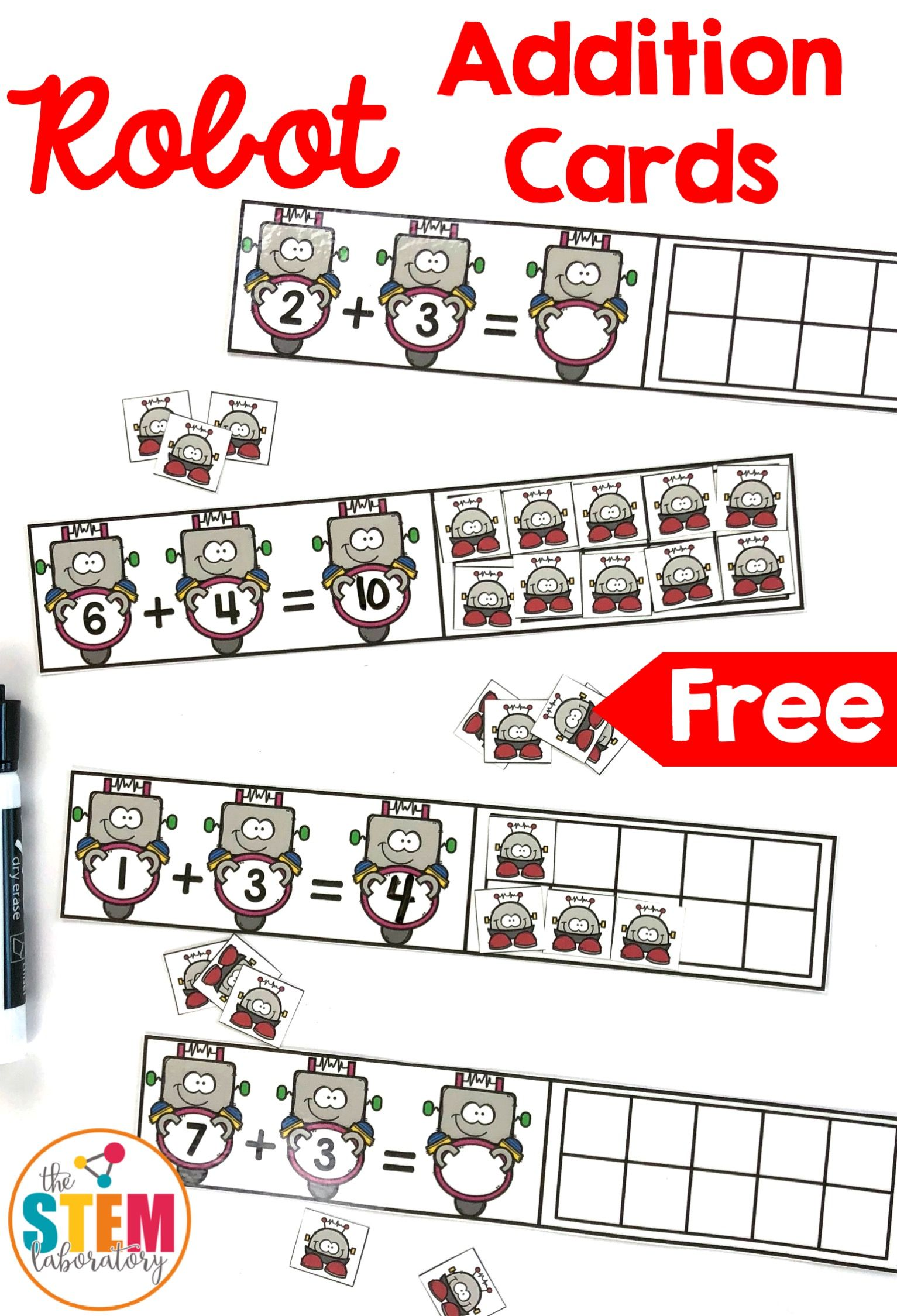 Robot Addition Cards | Kind