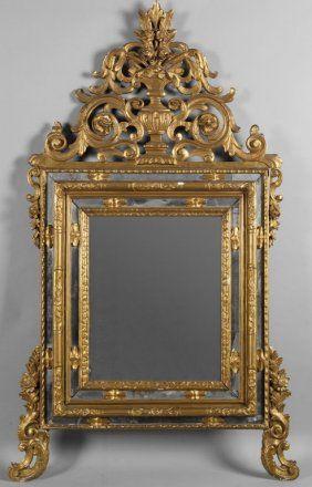 Specchiera no stile Luigi XV em intagliato legno   ESPELHOS ...