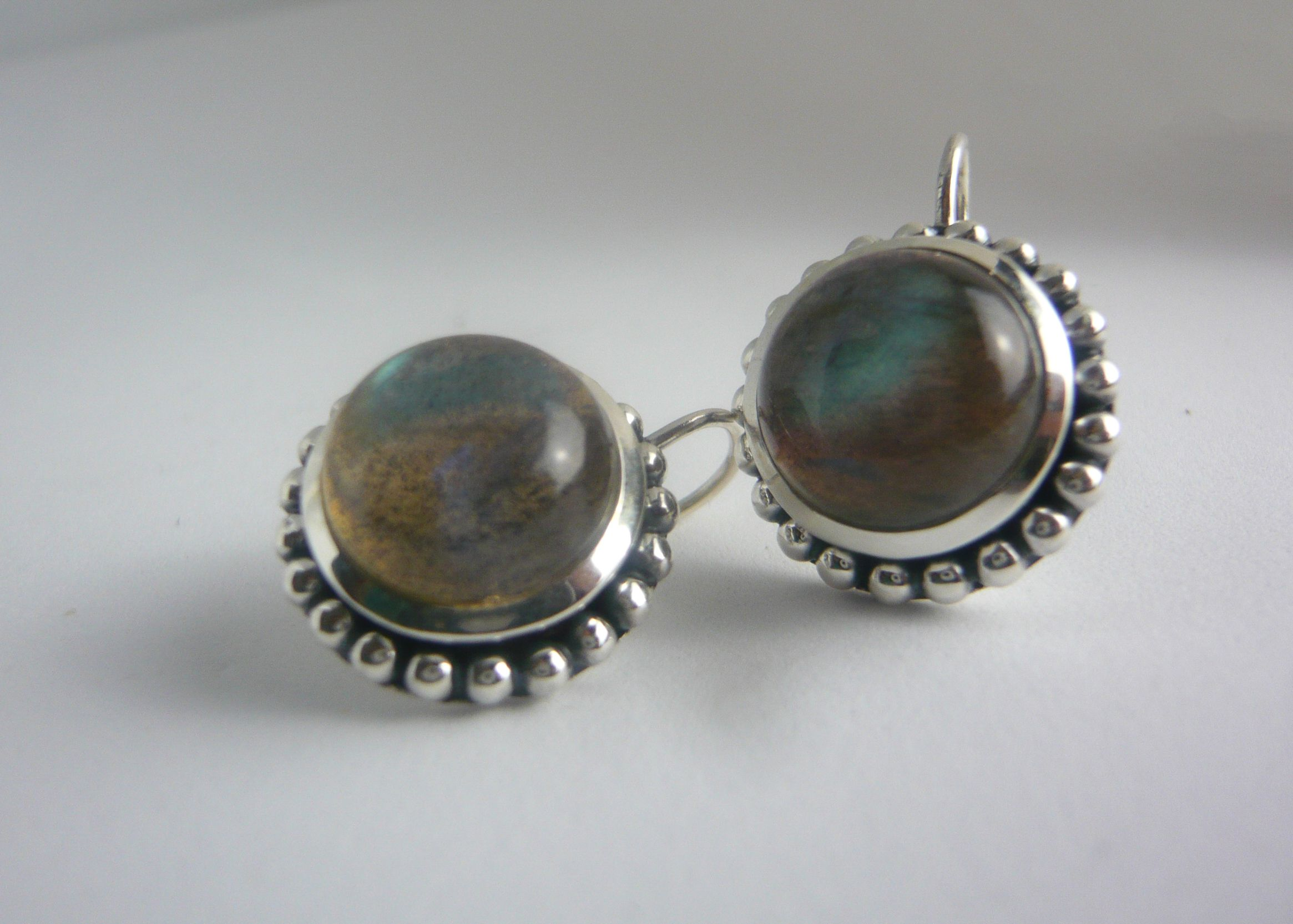 sterling silver krivi earrings labradorite p